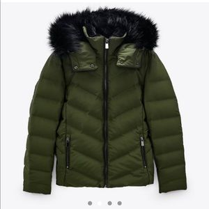 Water and wind protection winter jacket fur trim